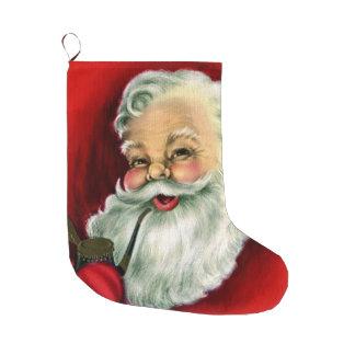 ヴィンテージのサンタの喫煙管のクリスマスのストッキング ラージクリスマスストッキング