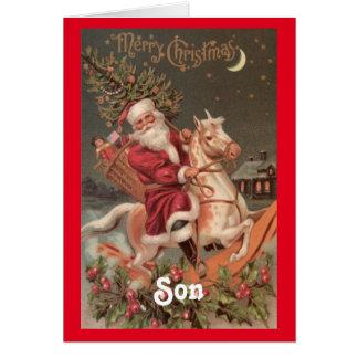 ヴィンテージのサンタの息子のクリスマス カード