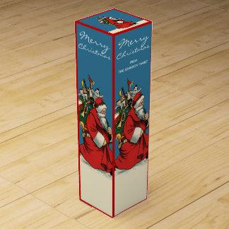 ヴィンテージのサンタクロースのカスタムなクリスマス ワインギフトボックス