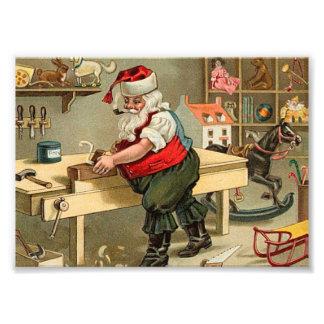 ヴィンテージのサンタクロースのクリスマスの研修会 フォトプリント