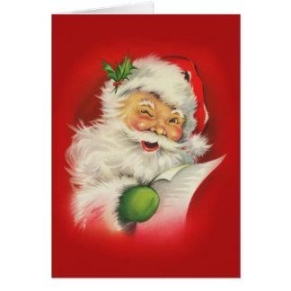 ヴィンテージのサンタクロースのクリスマス カード