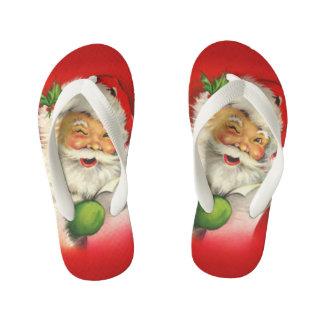 ヴィンテージのサンタクロースのクリスマス キッズビーチサンダル