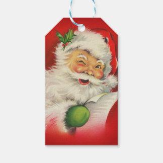 ヴィンテージのサンタクロースのクリスマス ギフトタグ