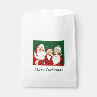 ヴィンテージのサンタ家族のクリスマス フェイバーバッグ