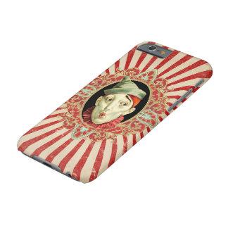 ヴィンテージのサーカスのピエロおよび動揺してなストライプの軽い音 BARELY THERE iPhone 6 ケース