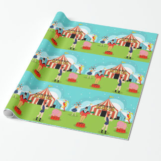 ヴィンテージのサーカスの包装紙 ラッピングペーパー