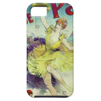 ヴィンテージのサーカスの絵のフランスのなキャバレーパリ iPhone SE/5/5s ケース