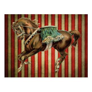 ヴィンテージのサーカスの馬 ポストカード
