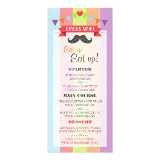 ヴィンテージのサーカスポスター子供の誕生日メニュー ラックカード