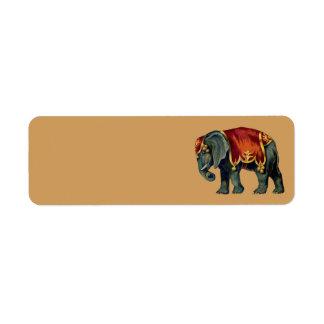 ヴィンテージのサーカス象の住所シール ラベル