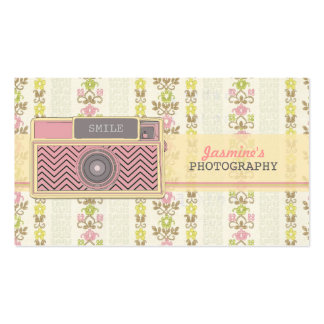 ヴィンテージのシェブロンのカメラの写真撮影の名刺 スタンダード名刺