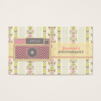 ヴィンテージのシェブロンのカメラの写真撮影の名刺 名刺