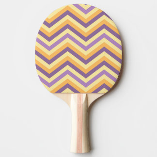 ヴィンテージのシェブロンのストライプなパターン 卓球ラケット