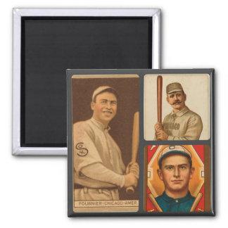 ヴィンテージのシカゴ・ホワイトソックスのベースボールカードのコラージュ マグネット