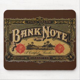 ヴィンテージのシガーのラベルの芸術、銀行券のお金財政 マウスパッド
