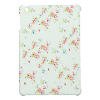 ヴィンテージのシックな花のローズピンクのぼろぼろのばら色の花 iPad MINI カバー