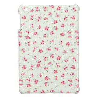 ヴィンテージのシックな花のローズピンクのぼろぼろのばら色の花 iPad MINI CASE
