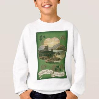 ヴィンテージのシャムロックの城のセントパトリックの日カード スウェットシャツ