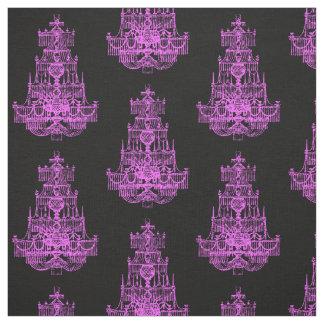 ヴィンテージのショッキングピンクのシャンデリアパターン ファブリック