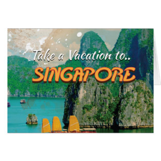 ヴィンテージのシンガポールの休暇ポスター カード