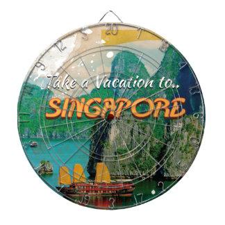 ヴィンテージのシンガポールの休暇ポスター ダーツボード