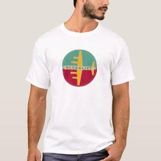 """ヴィンテージのジェット機の年齢のTシャツ""""GlobalJet """" Tシャツ"""