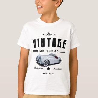ヴィンテージのジャガー車のガレージ Tシャツ