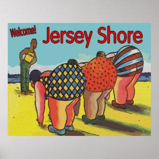 ヴィンテージのジャージーの海岸のエクササイズのクラス ポスター