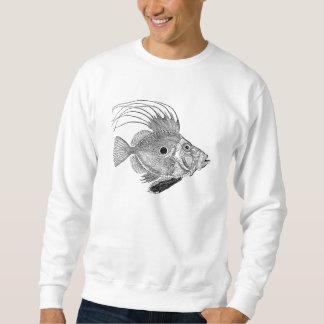 ヴィンテージのジョンDoreeの魚-水中競技はテンプレートを採取します スウェットシャツ