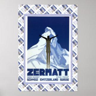 ヴィンテージのスイスポスターZermatt ポスター