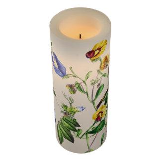 ヴィンテージのスイートピーのLathyrusの花のFlameless蝋燭 LEDキャンドル
