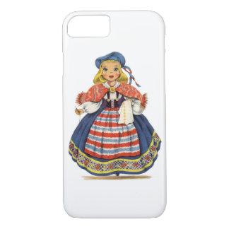 ヴィンテージのスウェーデン人の人形 iPhone 8/7ケース