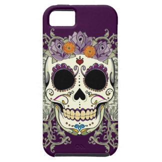 ヴィンテージのスカルおよび花のiPhone 5の場合 iPhone SE/5/5s ケース