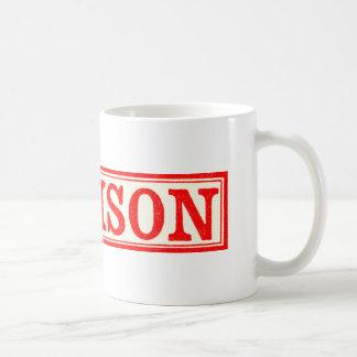 ヴィンテージのスカル及び骨が交差した図形の毒ラベル コーヒーマグカップ