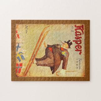 ヴィンテージのスカンジナビアのシガーの広告 ジグソーパズル