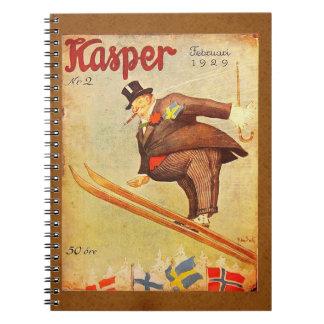 ヴィンテージのスカンジナビアのシガーの広告 ノートブック