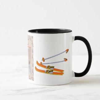 ヴィンテージのスキーポスター、スキーのためのフィンランド マグカップ