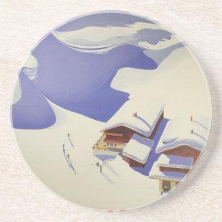 ヴィンテージのスキーポスター、スキーオーストリア コースター