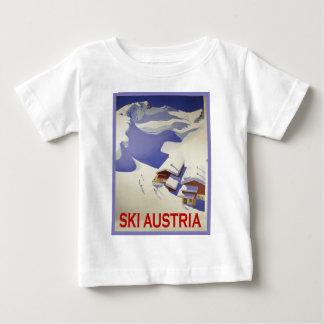 ヴィンテージのスキーポスター、スキーオーストリア ベビーTシャツ