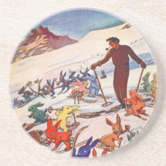 ヴィンテージのスキーポスター、Arlberg、Stアントン コースター