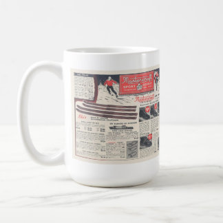 ヴィンテージのスキー広告、Skiwearおよび装置 コーヒーマグカップ