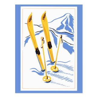 ヴィンテージのスキー芸術 ポストカード