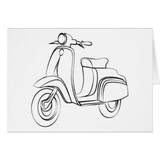 ヴィンテージのスクーター カード