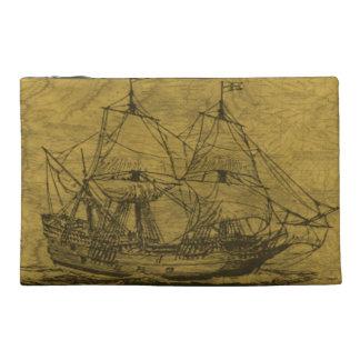 ヴィンテージのスクーナー船 トラベルアクセサリーバッグ