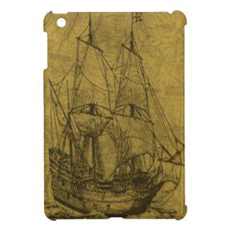 ヴィンテージのスクーナー船 iPad MINIカバー