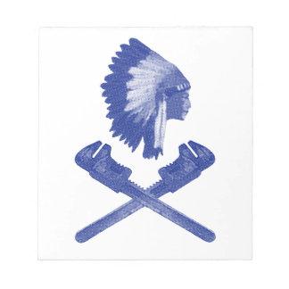 ヴィンテージのスタイルのインディアンの酋長エンジニア ノートパッド