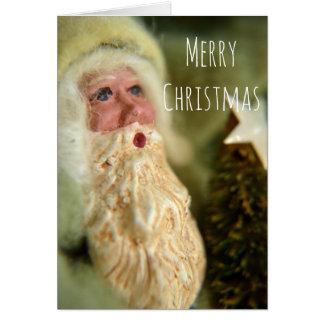 ヴィンテージのスタイルのサンタのクリスマスの挨拶状 グリーティングカード