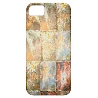 ヴィンテージのスタイルのステンドグラスのタイルの仕事 iPhone SE/5/5s ケース