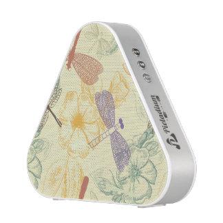 ヴィンテージのスタイルのトンボの群葉の花パターン BLUEOOTH スピーカー