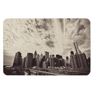 ヴィンテージのスタイルのニューヨークシティのスカイライン マグネット